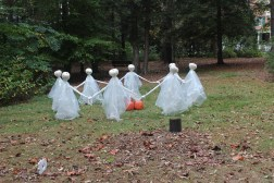 The park raises money by putting on some Halloween fun for the kids. Dancing ghosts were my favorite.